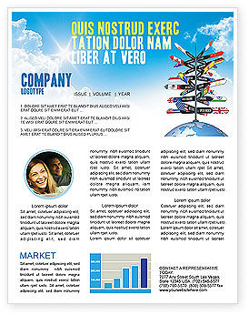 Global: Travel Directions Newsletter Template #04196
