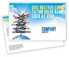 Global: Travel Directions Postcard Template #04196