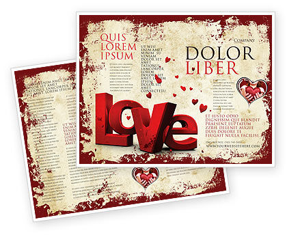 Christmas Love Brochure Template, 04198, Holiday/Special Occasion — PoweredTemplate.com