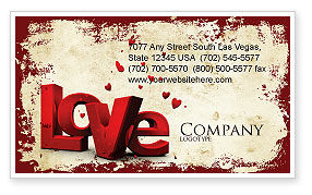 Holiday/Special Occasion: Christmas Love Business Card Template #04198