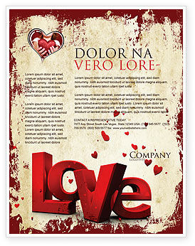Christmas Love Flyer Template, 04198, Holiday/Special Occasion U2014  PoweredTemplate.com  Free Holiday Flyer Templates Word