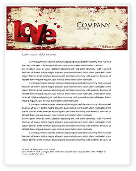 Christmas Love Letterhead Template, 04198, Holiday/Special Occasion — PoweredTemplate.com