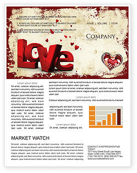 Holiday/Special Occasion: Christmas Love Newsletter Template #04198