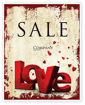 Holiday/Special Occasion: Christmas Love Sale Poster Template #04198