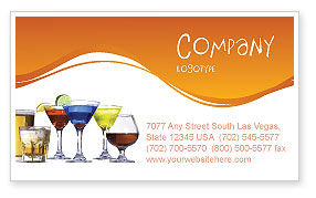 Food & Beverage: Strong Drinks Business Card Template #04199