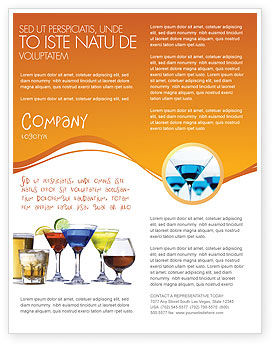 Food & Beverage: Strong Drinks Flyer Template #04199