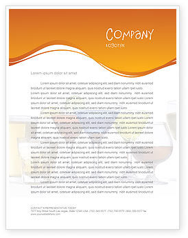 Strong Drinks Letterhead Template, 04199, Food & Beverage — PoweredTemplate.com