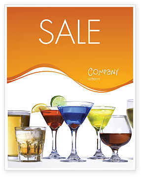 Food & Beverage: Strong Drinks Sale Poster Template #04199