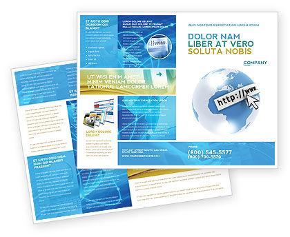 Site Address Brochure Template, 04201, Telecommunication — PoweredTemplate.com