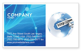Telecommunication: Site Address Business Card Template #04201