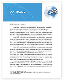 Site Address Letterhead Template, 04201, Telecommunication — PoweredTemplate.com