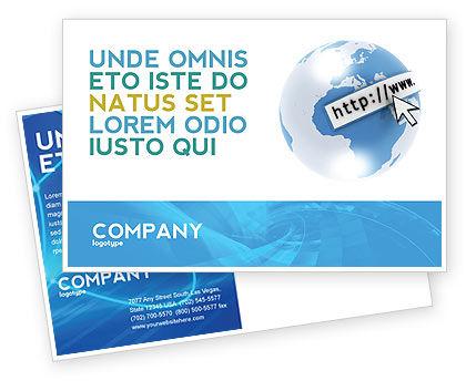 Telecommunication: Site Address Postcard Template #04201