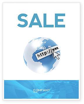 Telecommunication: Plantilla de póster - dirección del sitio #04201