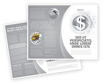 World Hard Currency Brochure Template, 04203, Financial/Accounting — PoweredTemplate.com