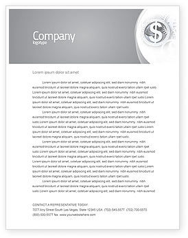 Financial/Accounting: World Hard Currency Letterhead Template #04203