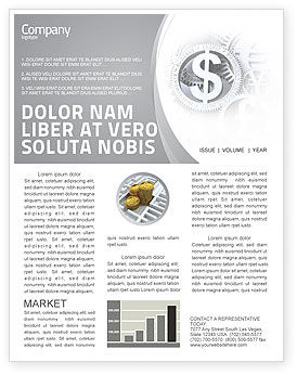 Financial/Accounting: World Hard Currency Newsletter Template #04203