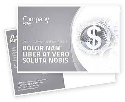 Financial/Accounting: World Hard Currency Postcard Template #04203