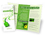 Nature & Environment: Plantilla de folleto - coche verde #04204