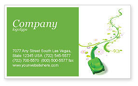 Nature & Environment: Green Car Business Card Template #04204