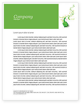 Nature & Environment: Green Car Letterhead Template #04204