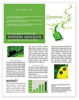 Nature & Environment: Green Car Newsletter Template #04204