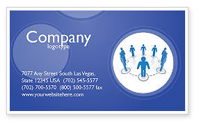 Consulting: Organization Structure Business Card Template #04207