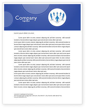Organization Structure Letterhead Template, 04207, Consulting — PoweredTemplate.com