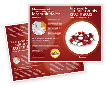 Red White Pills Brochure Template