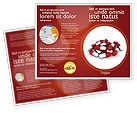 Medical: Red White Pills Brochure Template #04208