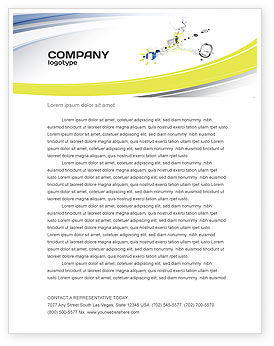 Technology, Science & Computers: Device Connection Letterhead Template #04209