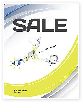 Device Connection Sale Poster Template