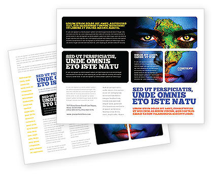 South America Brochure Template, 04210, Global — PoweredTemplate.com