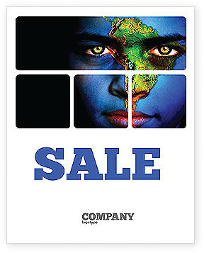 South America Sale Poster Template, 04210, Global — PoweredTemplate.com