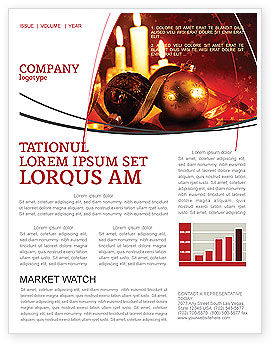 Holiday/Special Occasion: Christmas Decorations And Candles Newsletter Template #04211