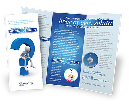 Consulting: Unsolved Issue Brochure Template #04213