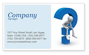 Unsolved Issue Business Card Template, 04213, Consulting — PoweredTemplate.com