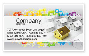 Private House Business Card Template, 04214, Careers/Industry — PoweredTemplate.com