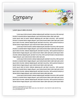 Private House Letterhead Template, 04214, Careers/Industry — PoweredTemplate.com