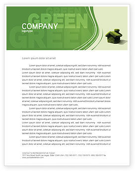 Nature & Environment: Green House Letterhead Template #04215