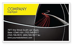 Construction: Highway Lights Business Card Template #04216