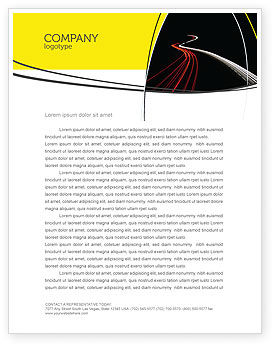 Highway Lights Letterhead Template, 04216, Construction — PoweredTemplate.com