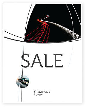 Highway Lights Sale Poster Template