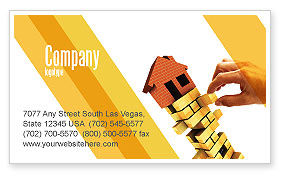 Consulting: Building Business Card Template #04217