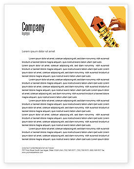 Consulting: Building Letterhead Template #04217