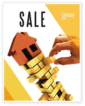 Building Sale Poster Template, 04217, Consulting — PoweredTemplate.com