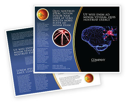 Brain Receptor Brochure Template, 04218, Medical — PoweredTemplate.com