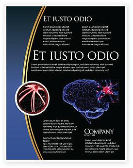 Medical: Modèle de Flyer de récepteur de cerveau #04218