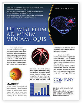 Medical: Brain Receptor Newsletter Template #04218