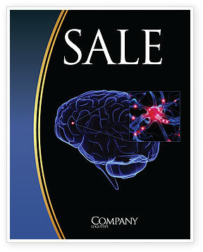Brain Receptor Sale Poster Template, 04218, Medical — PoweredTemplate.com