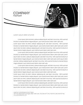 Mechanic Gears Letterhead Template, 04219, Utilities/Industrial — PoweredTemplate.com